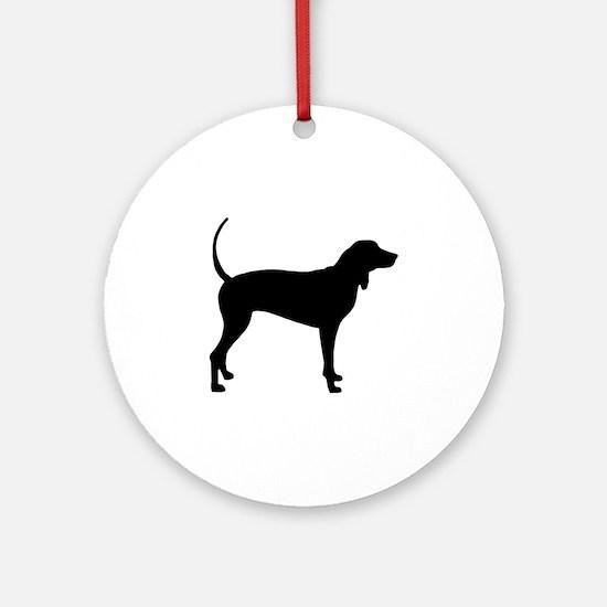 Coonhound Ornament (Round)