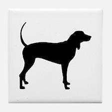 Coonhound Tile Coaster
