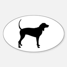 Coonhound Oval Decal