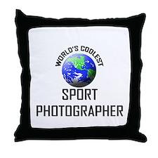 World's Coolest SPORT PHOTOGRAPHER Throw Pillow