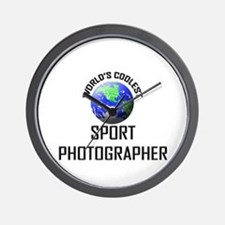 World's Coolest SPORT PHOTOGRAPHER Wall Clock