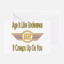 Funny 62nd Birthday Greeting Card