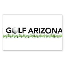 I Golf Arizona Rectangle Decal