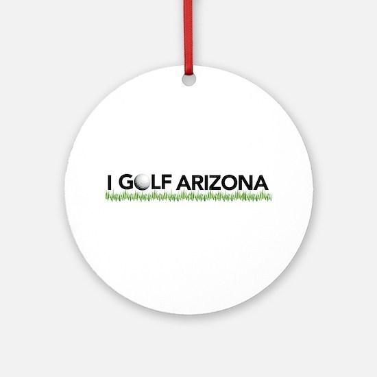 I Golf Arizona Ornament (Round)
