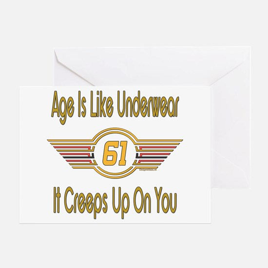Funny 61st Birthday Greeting Card