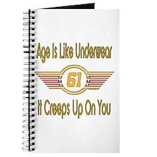 Funny 61st Birthday Journal