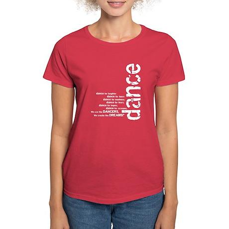 We are the Dancers - White Women's Dark T-Shirt