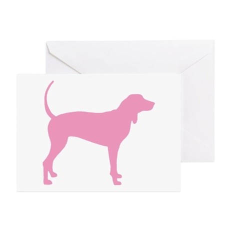 Pink Coonhound Greeting Cards (Pk of 20)