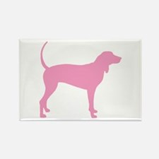 Pink Coonhound Rectangle Magnet (10 pack)