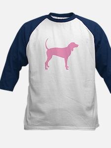 Pink Coonhound Kids Baseball Jersey