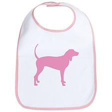 Pink Coonhound Bib