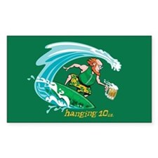 Surf'n Irish Leprechaun Rectangle Decal