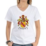 Gumprecht Family Crest Women's V-Neck T-Shirt