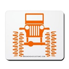 orange big wheel Mousepad