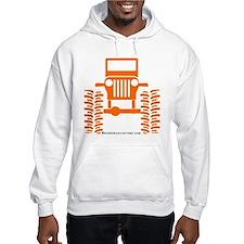 orange big wheel Hoodie