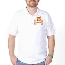 orange big wheel T-Shirt