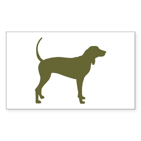 Olive Coonhound Rectangle Sticker