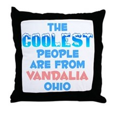 Coolest: Vandalia, OH Throw Pillow
