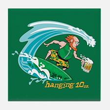 Surf'n Irish Leprechaun Tile Coaster