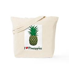 I Love Pineapples Tote Bag