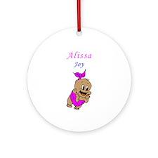 Cute Alissa Ornament (Round)
