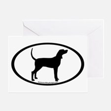 Coonhound #2 Oval Greeting Card
