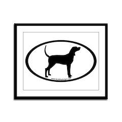 Coonhound #2 Oval Framed Panel Print