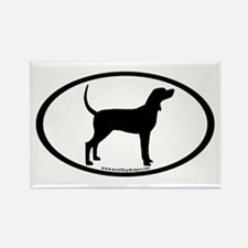 Coonhound #2 Oval Rectangle Magnet (10 pack)