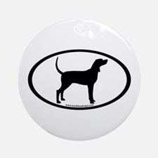 Coonhound #2 Oval Ornament (Round)