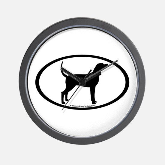 Coonhound #2 Oval Wall Clock