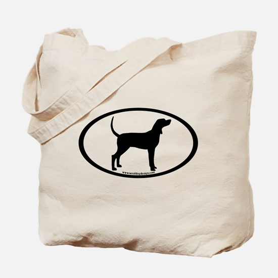 Coonhound #2 Oval Tote Bag