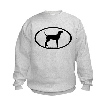 Coonhound #2 Oval Kids Sweatshirt