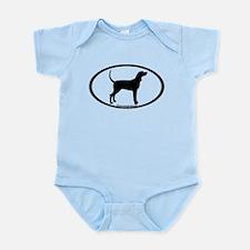 Coonhound #2 Oval Infant Bodysuit