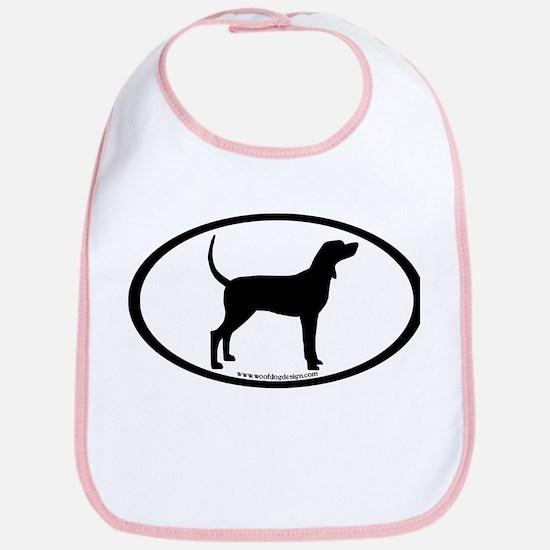 Coonhound #2 Oval Bib