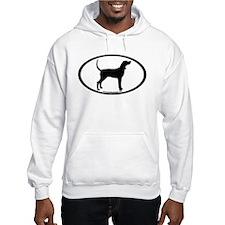 Coonhound #2 Oval Hoodie