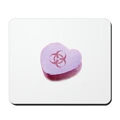 Biohazard Candy Heart Mousepad