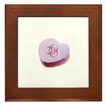 Biohazard Candy Heart Framed Tile