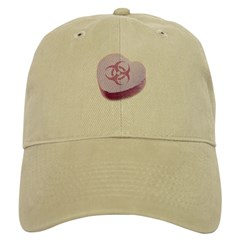 Biohazard Candy Heart Baseball Cap