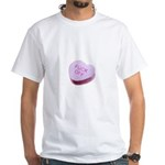 Fuck Off Candy Heart White T-Shirt