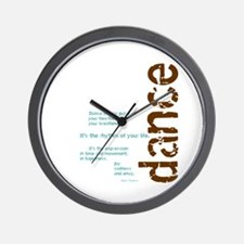 """Brown and Blue """"Dance is your Wall Clock"""