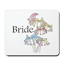 Fireworks Bride Mousepad