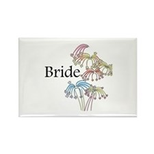 Fireworks Bride Rectangle Magnet