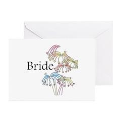Fireworks Bride Greeting Cards (Pk of 20)