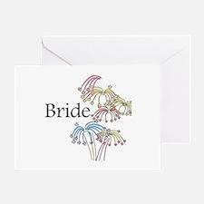 Fireworks Bride Greeting Card