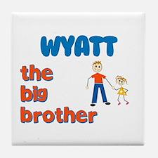 Wyatt - The Big Brother Tile Coaster