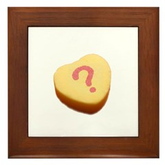 Question Mark on a Candy Heart Framed Tile