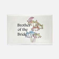 Fireworks Brother of the Bride Rectangle Magnet