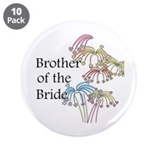 """Fireworks Brother of the Bride 3.5"""" Button (10 pac"""