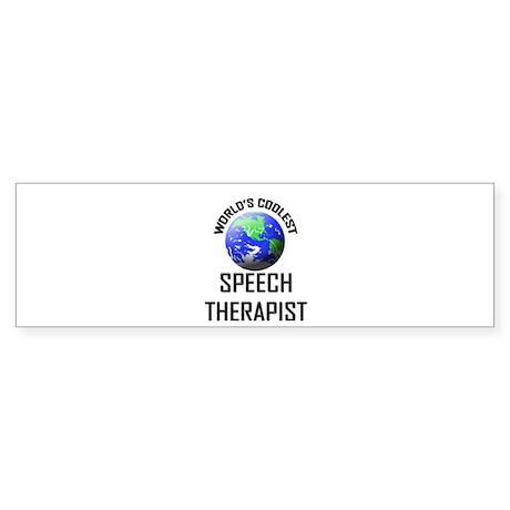 World's Coolest SPEECH THERAPIST Bumper Sticker