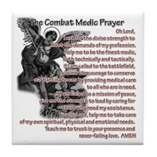 Combat Medic's Prayer Tile Coaster